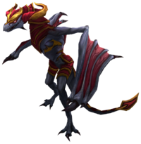 Shyvana Dragon Render