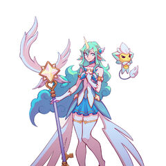 Star Guardian Soraka Concept 2 (by Riot Artist <a href=