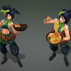 Modelo de la actualización de Akali 4 (por el artista de Riot, <a rel=