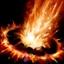 Brand Flammensäule alt