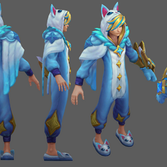 Pajama Guardian Ezreal Model 2 (By Riot Artist <a rel=