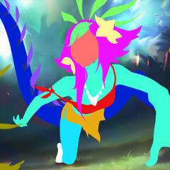 Concepto de la ilustración de Neeko 4 (por el artista de Riot, <a class=