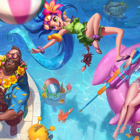 Rift Scuttler in the Pool Party splash art