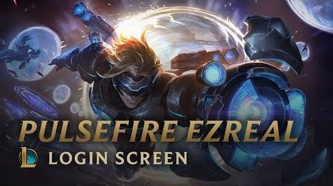 Cybernetyczny Ezreal (2018) - ekran logowania