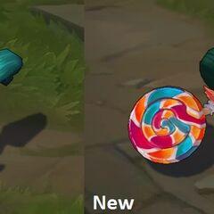 Porównanie starego i nowego modelu Lizakowej Poppy
