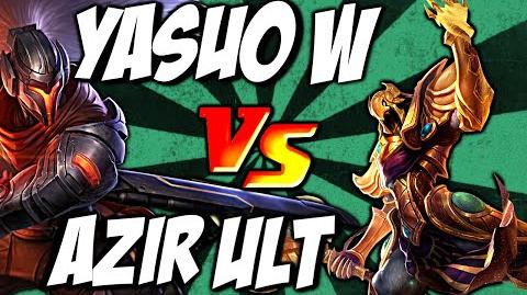 Cist1 Azir Ult vs Yasuo W - Emperor's Divide vs Windwall by LoL Clash & Combo lolclash