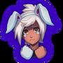 Emotka Unlucky Bunny