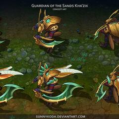Guardian of the Sands Kha'Zix Concept 1 (by Riot Artist <a href=