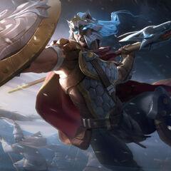 Glaive Warrior Pantheon Splash Concept 2 (by Riot Artist <a rel=