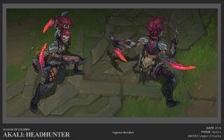 Akali Update Headhunter concept 01