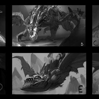 Dragon Splash Concept (by Riot Artist <a href=