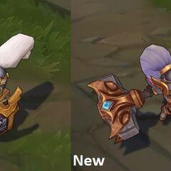 Porównanie starego i nowego modelu Poppy jako Rycerz