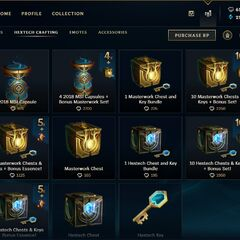 Hextech crafting store page <small>(Patch <a href=