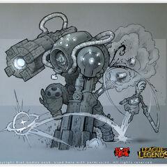 Zaun Vigilnaut (Ekko trailer) concept art 2 (by Riot Artist <a rel=