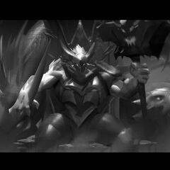 Dragon Knight Mordekaiser Update Splash Concept 8 (by Riot Contracted Artist <a rel=