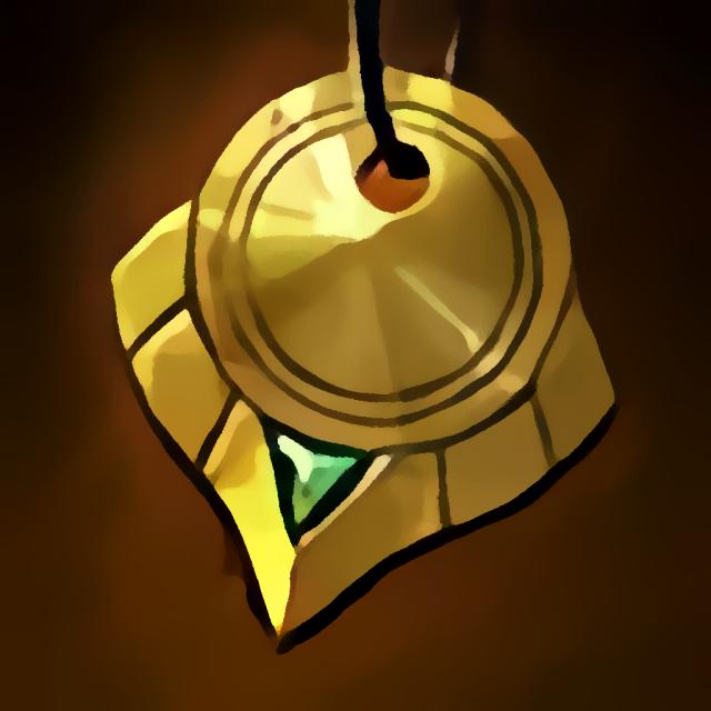 Verschlissenes Medaillon des Nomaden item
