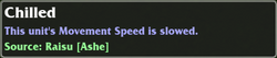 Chilled Debuff tooltip