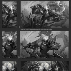 Dragonslayer Trundle Splash Concept 2 (by Riot Contracted Artist <a rel=