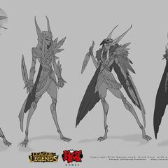 Xayah concept 14 (by Riot Artist <a rel=