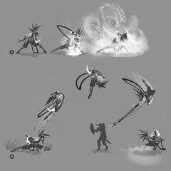 Concepto de la actualización de Akali 5 (por el artista de Riot, <a class=