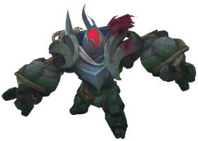 Jungle Golem Red TempleofLilyandLotus Render