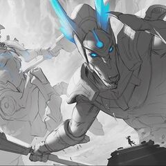 Worldbreaker Hecarim and Nasus Splash Concept 2 (by Riot Artist <a href=