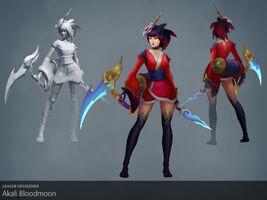 Akali Update Blutmond- model 01