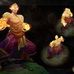 God Fist Lee Sin Model 1 (by Riot Artist <a rel=