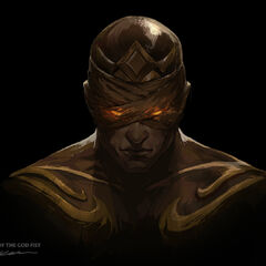 God Fist Lee Sin Promo 2 (by Riot Artist <a rel=