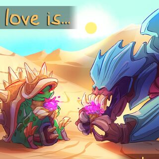 Rammus Valentines Day 2016 Card Promo (by Riot Contracted Artist <a href=