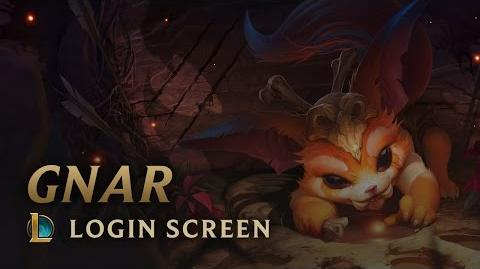 Gnar, the Missing Link Login Screen - League of Legends