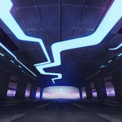 Concepto del escenario de las ilustraciones de K/DA (por el artista de Riot, <a class=