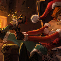 Candy Cane Miss Fortune Splash Update Concept 4 (by Riot Artist <a href=