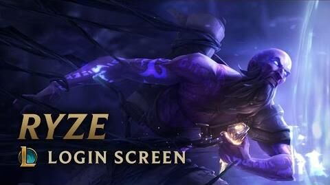 Ryze, der Runenmagier - Login Screen