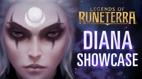 Diana Champion Showcase Gameplay - Legends of Runeterra