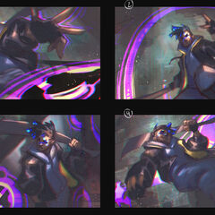 True Damage Ekko Splash Concept 2 (by Riot Artist <a href=