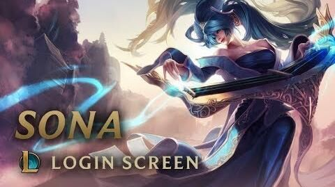 Sona, die Virtuosin - Login Screen