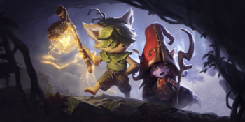 A Male Yordle named Sallow and a female Yordle named Lulu.