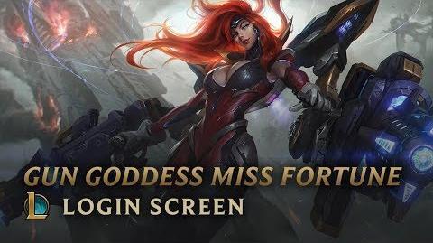 Gun Goddess Miss Fortune - Login Screen