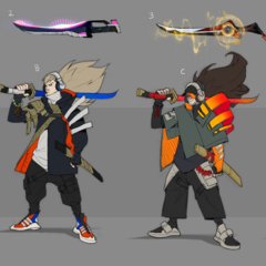 True Damage Yasuo Concept 2 (by Riot Artist <a rel=