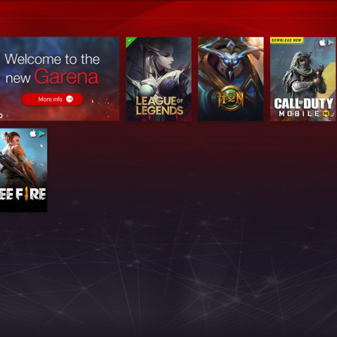 Garena Platform main screen