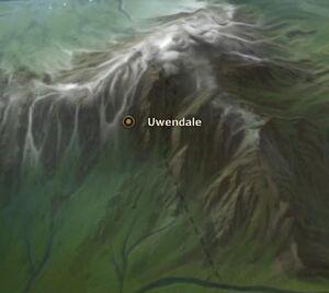 Uwendale map