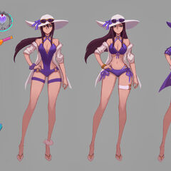 Pool Party Caitlyn Concept (by Riot Artist <a href=