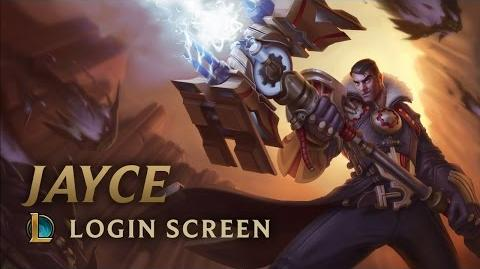 Jayce, the Defender of Tomorrow - Login Screen