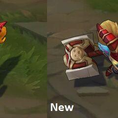 Porównanie starego i nowego modelu Poppy Szkarłatnego Młota