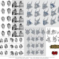 Rakan & Xayah concept 3 (by Riot Artist <a rel=