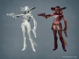 Miss Fortune Update Cowgirl- model 01