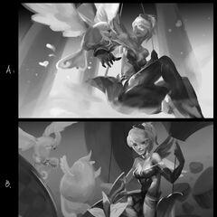 Heartseeker Quinn Splash Concept 1 (by Riot Artist <a href=