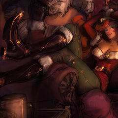 Candy Cane Miss Fortune Splash Update Concept 2 (by Riot Artist <a href=