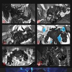 Hextech Alistar Splash Concept 1 (by Riot Artist <a href=